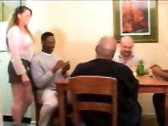 Vintage bi-racial sex with blonde milf
