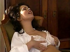 Girl-on-girl Secretary Licks the Hairy Labia Doctor
