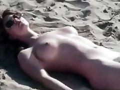 Romantic Retro Beach Scene
