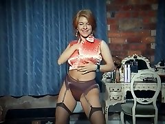 QUEER - vintage yam-sized tits strip dance tease in stockings