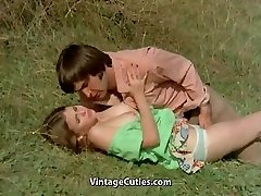 Man Attempts to Seduce nubile in Meadow (1970s Vintage)