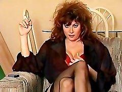 Klassieke 80's roken, big hair en alle
