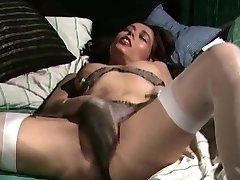 Retro Classic - Satin panties getting off