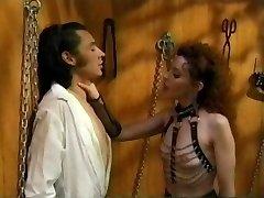 Vintage Femdom Olivia Outre s Mužským Slave