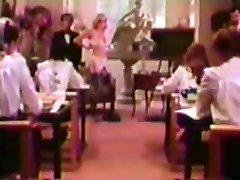 Tutor fucks in front of roomful of Catholic Schoolgirls!