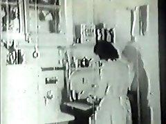 Handyman plumbs kinky housewife in vintage porn