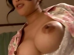 Hot buxom mom with son