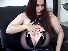 Goth huge boobs JOI