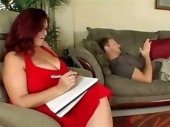 Enormous titted plumper therapy for his cock