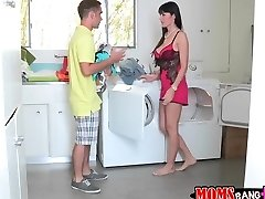 Go do some laundry with my girlfriend's mommy
