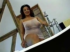 Brit Busty MILF gets humped in the bathroom