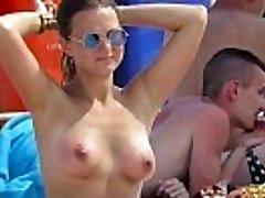 Horny Topless Amateurs Milfs - Hot Voyeur Beach Flick