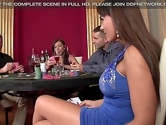2 casino Hookers get Dual Penetrated and Gag on manhood