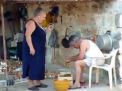 Plumper italian Grandma Calls Grandpa to shag