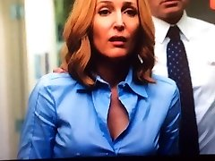 Dana Scully X-Files rock hard nips