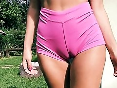 Humungous Ass Fit Body Good-sized Cameltoe Perky Tits Blonde Teen
