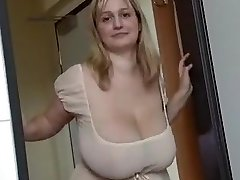Fabulous homemade Big Tits, Platinum-blonde xxx video