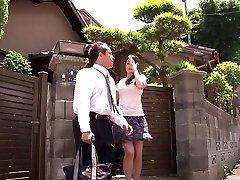 Neverjetno Japonski dekle Risa Murakami v Noro majhne joške, oldie JAV scene