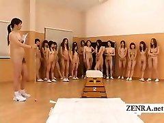 Nudistični Japonska futanari dickgirls in milf telovadnici učitelj