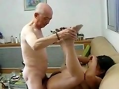 Chinese Granny Neighbour Gets Pounded by Asian Grandpa