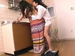 Grueso Oriental ama de casa se la follan duro por su amante en