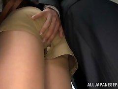 Akiho Yoshizawa getting pulverized at the office