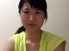 Asian school girl periscope downblouse boobs