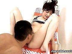 Hämmastav pornstar Rika Sonohara aastal Kuumim Fingering, Dildod/Mänguasjad täiskasvanud clip
