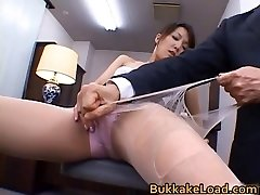 Jaw-dropping real asian Shiho getting cum