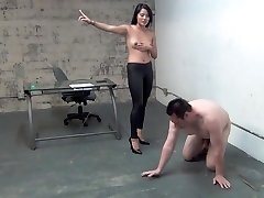 asian manager ball busting victim