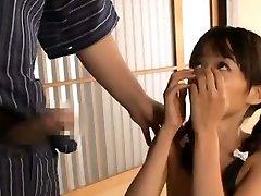 Asuka Hoshino deep throats shlong and nut