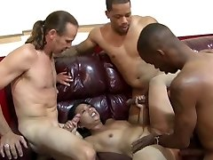 Asian MILF's Office Gang Bang