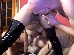 Chinese whore dp and face cum
