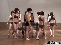 Super hot Japonské dívky blikající