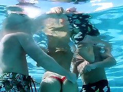 Super hot and kinky towheaded stunner got smashed in the swimming pool