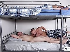 Horny step-dad drills his naughty stepson