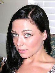 Amateur Blue Eyed Brunette Babe Models Nude And Gives A Masturbating CFNM Handjob - Anna Oksana and Ray Edwards