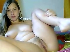 Sexy immature stroking for web camera