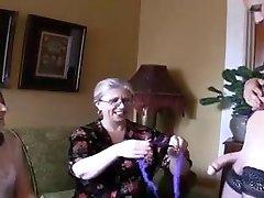 Two hot grandmothers and ladyboy