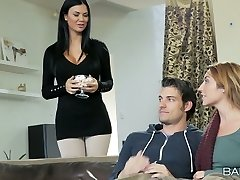 Fantastic seductress Christiana Cinn and light-haired bitch ride and fellate one hard penis