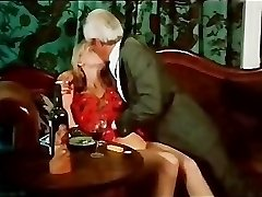 Vintage kissing and smoking vignette