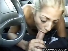 Melody Love gives dt in car