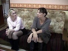 Špinavé francouzské lesby v lesbické akci