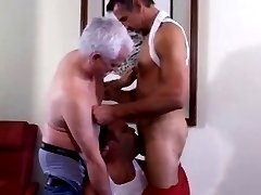 Hot daddy 3some