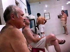 Str8 spy pakistani dad in public bath