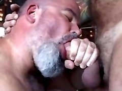 Two Daddies Sucking