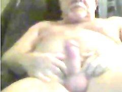 grandpa stroke and lick precum