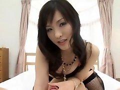 Exotic Japanese model Nao Ayukawa in Wild Doggie-style, Stockings JAV movie