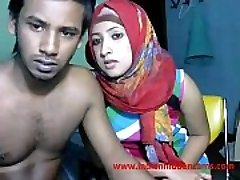 newly married indian srilankan couple live on webcam display