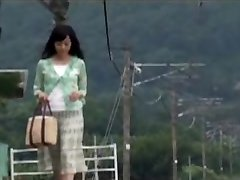 Japanese Mummy Was Surprised With Fellow's In  The Travel